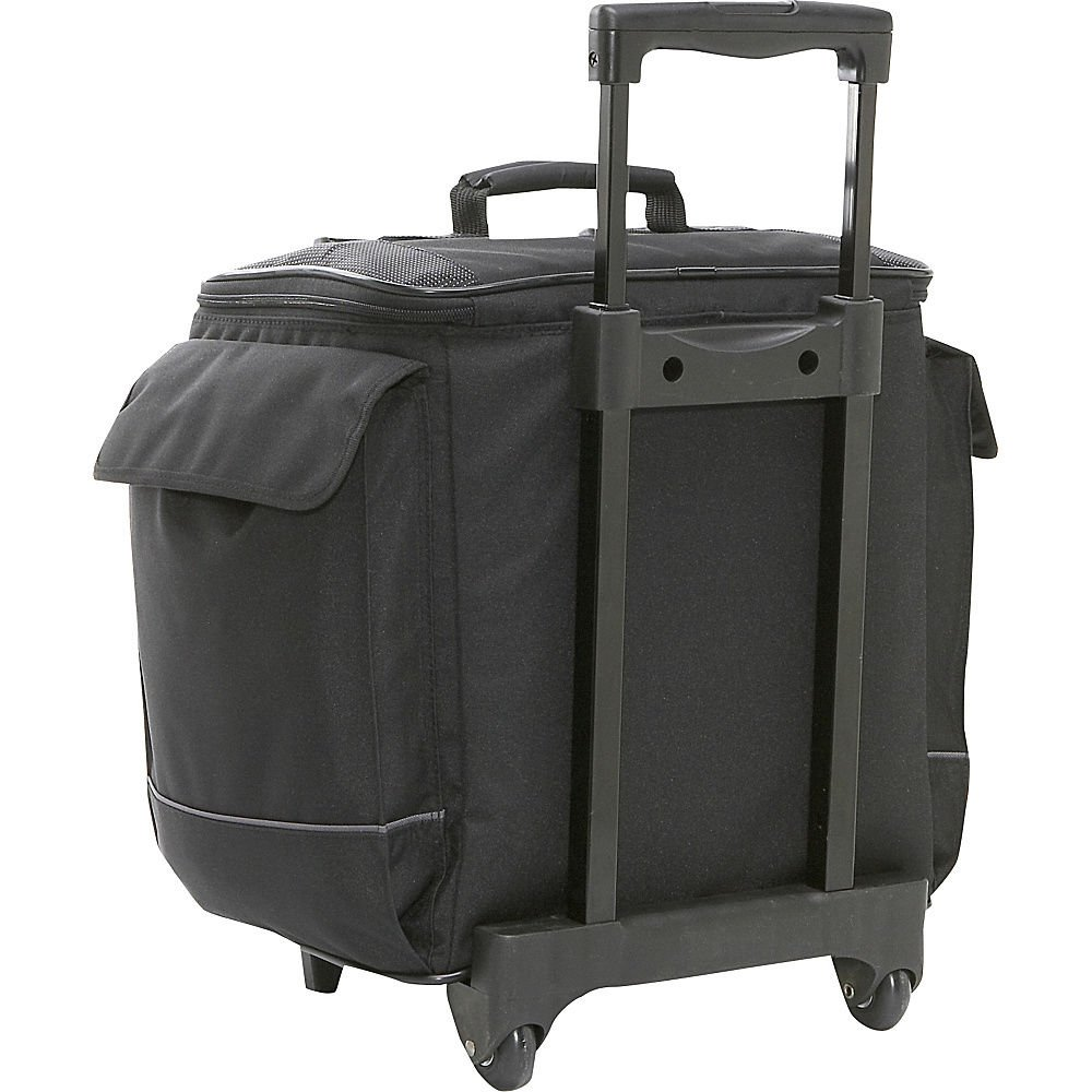 Bellino Bottle Limo 12 Bottle Insulated Wine Tote Case Wheel Travel Cooler with Organizer, Black by Bellino (Image #3)