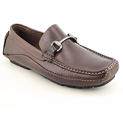 CLARKS Mens SING Flexible Leather Driving Moccasins, 10.5, Brown Leather
