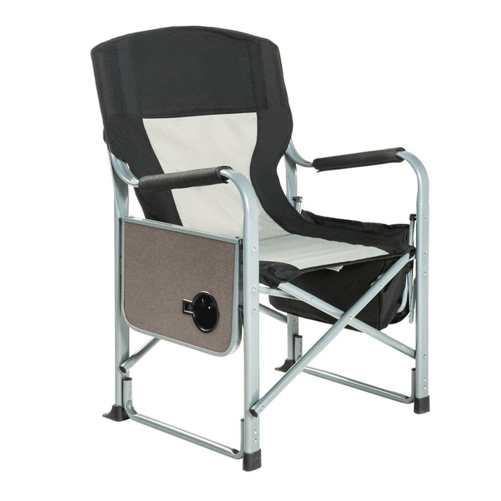 ZYN Portabler Klappstuhl im Freien mit Seitlichem Aufzug-Strand-Klubsessel-Chef-Berühmtheits-Direktor-Bürolehnsessel