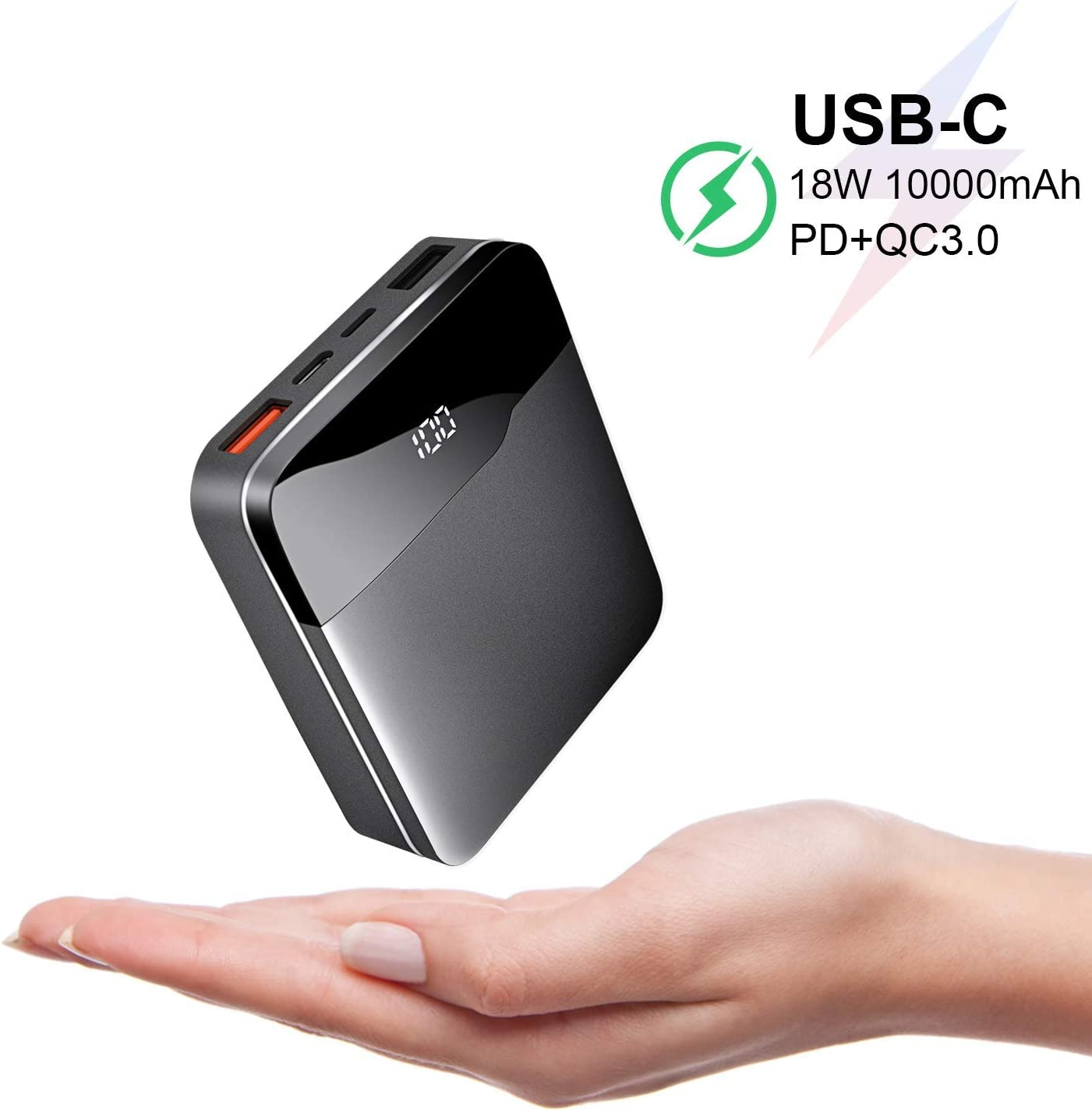 Power Bank - Batería Externa para iPhone y Samsung Galaxy (10000 ...