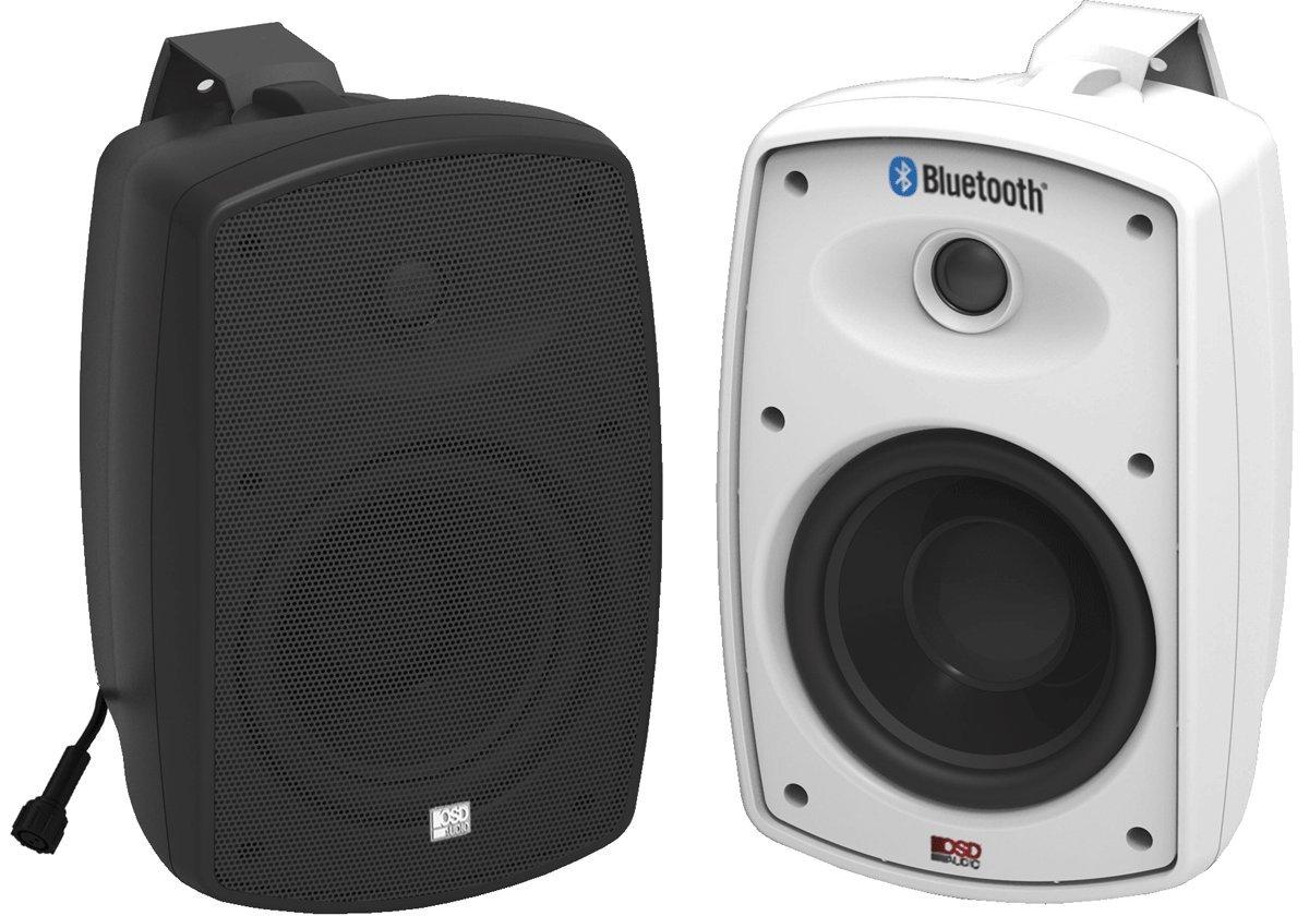Wireless Bluetooth Outdoor Weatherproof Patio Speaker, 5.25'' High Definition Composite Shell (Pair, White) OSD BTP525
