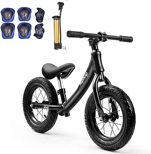 shuhong Ligero Bicicleta Sin Pedales para Niños Equipado con Equipo De Protección Neumático De Aire 2-6 Años,Black: Amazon.es: Hogar