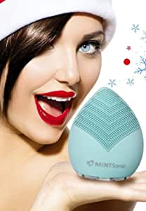 Luxury MINTSonic Facial & Body Brush Cleansing System - Anti Aging Skin Care Face Massager - Exfoliating Microdermabrasion Pore Minimizer to Smooth Skin Help Reduce Blackheads - Acne - Dark Spots