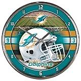 Miami Dolphins Round Chrome Wall Clock