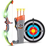 SainSmart Jr. Kids Bow and Arrow Toy, Basic Archery Set Outdoor Hunting Game with 3 Suction Cup Arrows, Target and…