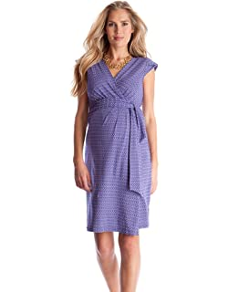 692137f42533a Seraphine Abbey Wrap Tie Maternity Dress - Seabreeze - 10 at Amazon ...