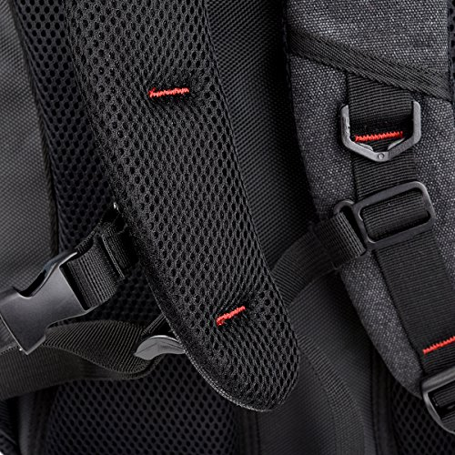 "NuVur Universal Canvas Backpack for Laptops/Notebooks up to 15.6"" Fits Asus ZenPad 8.0 Z380C, Z380CX, Z380KL, Z580CA-C1-BK