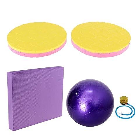 NON Baoblaze Cojín de Equilibrio para Yoga y Pilates + Balón de ...