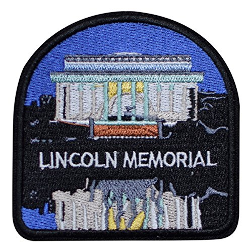 Lincoln Memorial National Monument Patch   Washington  Dc  Iron On