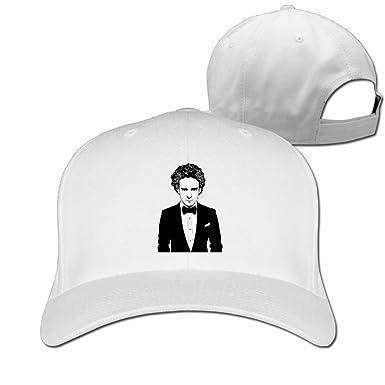 6275fc7d0d41c Justin Timberlake Caricature Spoof Peaked Flat Baseball Snapback Cap Men  Women White