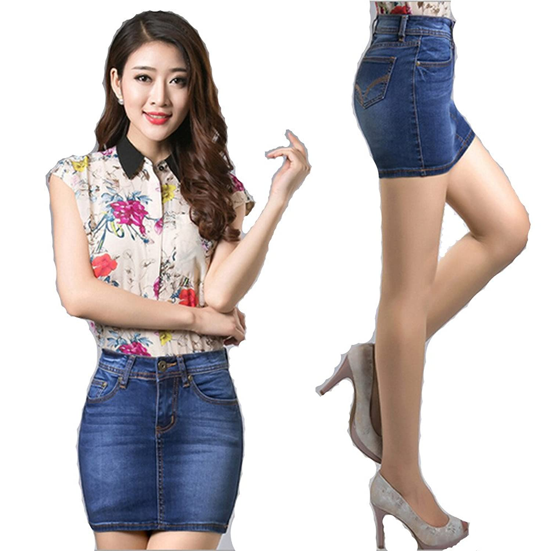 2016 Fashion Summer Hot Women's short Jeans skirts Stretch hip-hugger denim skirts