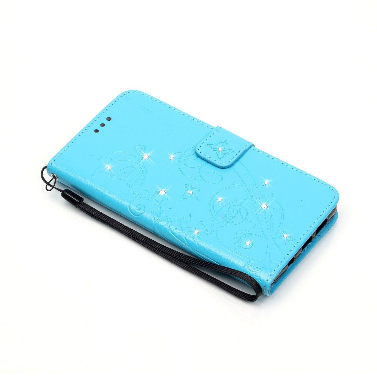 Cover Sony Xperia Z3 Compact,ikasus Goffratura Vines Fiore Farfalle Cristallo 3D Diamante Bling Strass Flip Cover Portafoglio PU Pelle Wallet Stand Custodia Cover per Sony Xperia Z3 Compact,Grigio