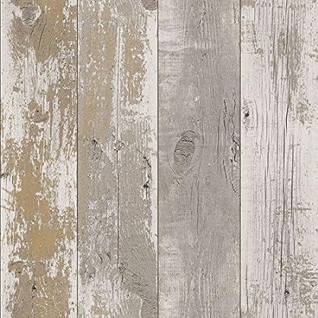 Driftwood Wallpaper Dark Neutral 670511