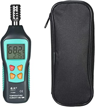 Digital LCD Temperature Humidity Meter Thermo-Hygrometer with Dew Point Wet Bulb