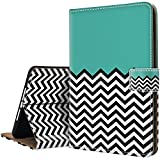 chevron ipad protective case - Ademen iPad Pro 10.5 inch Leather Case, Chevron Waves Green Protective Lightweight Folio Smart Case Cover With Magnetic Auto Sleep Wake Function Only For iPad Pro 10.5