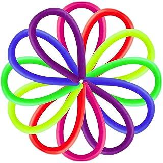Contever Elastico String Giocattoli Costruire Spremere Pull rafforza le armi | Sensoriale Giocattoli Autismo Stress Ansia Rilascio di sollievo per i bambini con ADD, ADHD e Adulti(12 pezzi / 6 colori)