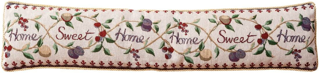 "Home Sweet Home Draft Block, Energy Efficient Decorative Door Draft Stopper, 35"" x 8 ½"" x 3"""