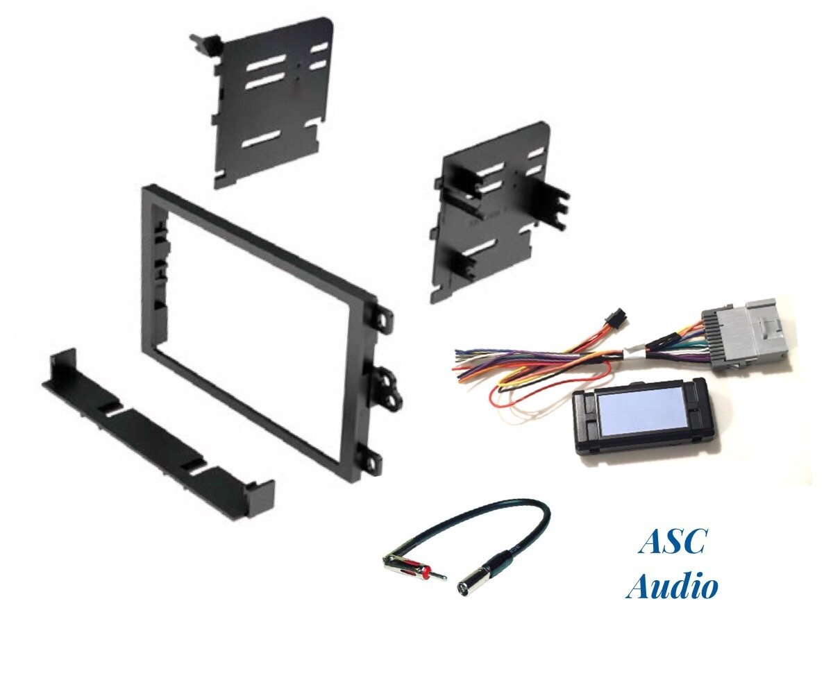 ASC Audio Car Stereo Dash Kit, Wire Harness, and Antenna Adapter to Add a Double Din Radio for Some GM Chevrolet GMC Vehicles with + Without Bose, Integrated Acc 12v - See Compatible Vehicles Below