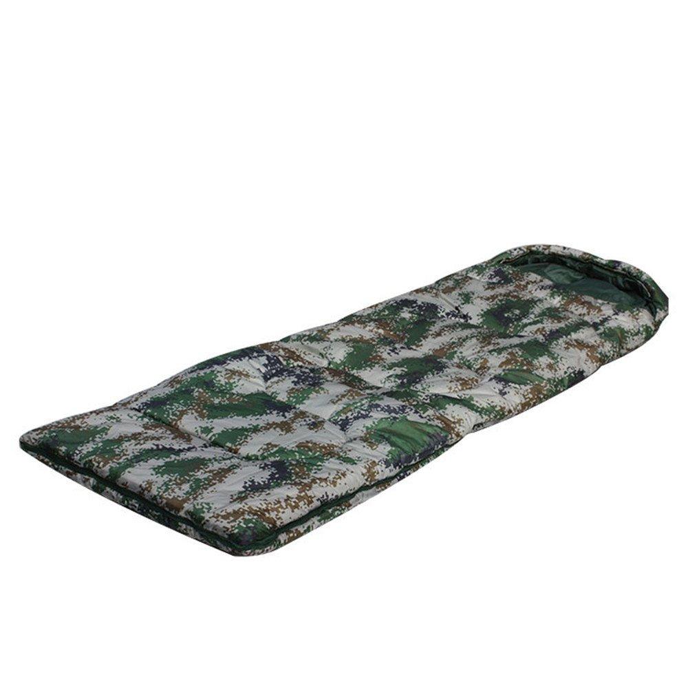 RFVBNM Sacco a pelo digitale camuffamento ispessimento campeggio esterna sacco a pelo per adulti campeggio calore può essere cucito sacco a pelo caldo 220 cm  75 cm