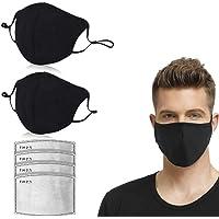 LILIfoodshop 2pc Transpirables Unisexo Negro 𝘔ascarillas de algodón