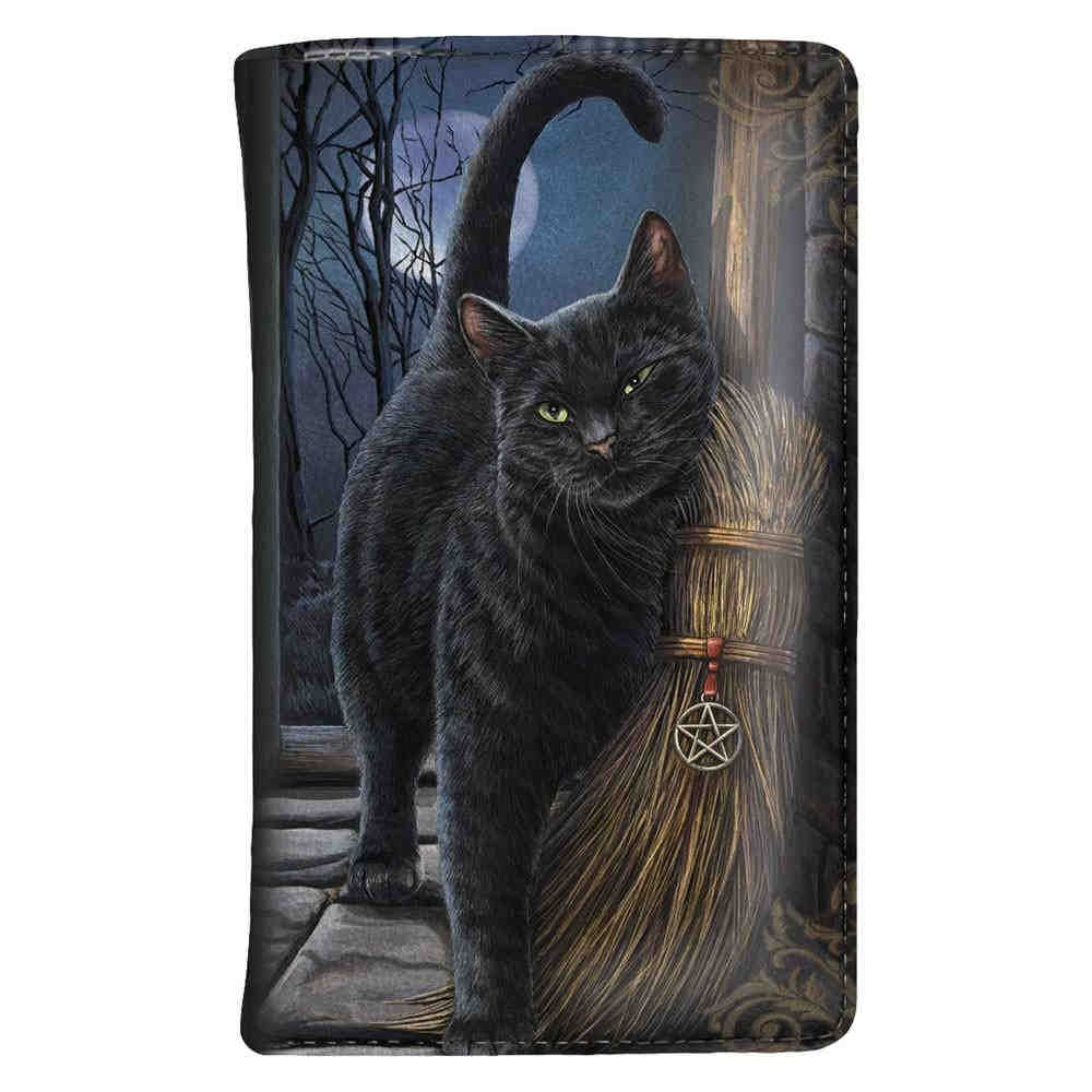 Un cepillo con Magick - gato con billetera de escoba Multicolores - Fantasía - Nemesis Now