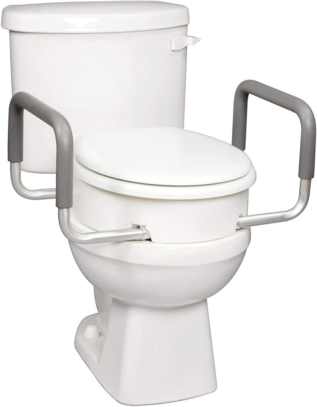 Amazon.com: Carex 3.5 Inch Raised Toilet Seat with Arms   For