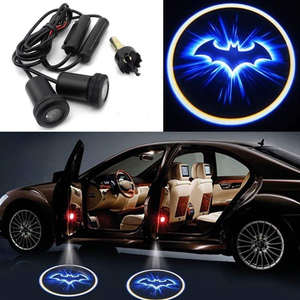 Motoeye Blue bat Batman Car Door LED Projector Light Courtesy Welcome logo Shadow Ghost Light laser - 2PCS (nero) PAVEDGE ELECTRONIC LTD BLUEBAT