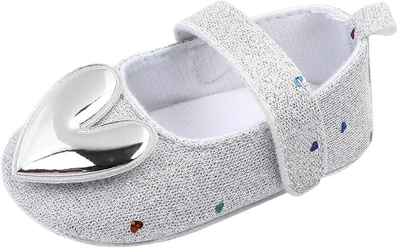 0-18 Meses,SO-buts Recién Nacido Bebés Niñas Zapatos De Princesa Antideslizantes En Forma De Corazón De Suela Blanda para Interiores Zapatos Planos para Caminar Primero Planos: Amazon.es: Zapatos y complementos