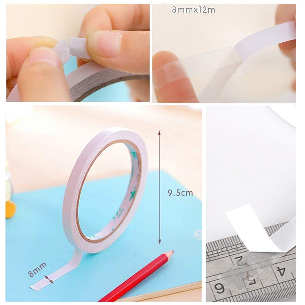 regalo 8/mm * 12/M ogni autoadesivo doppio nastro adesivo foto Carft Nastro biadesivo,8/rotolo di nastro adesivo per cucito lavorato a mano