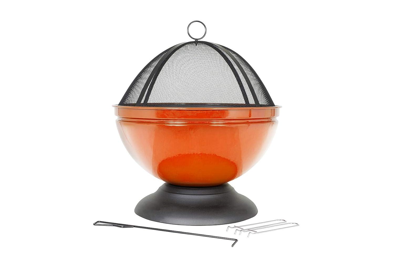 La Hacienda 58177//émaill/é Globe Foyer avec Grill/ /Orange