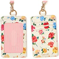 ban.do Keep It Close Leatherette Card Case with Lanyard, Coming Up Roses (Multicoloured) - 92815