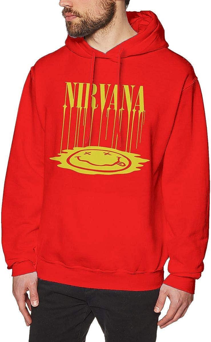 Mens Funny Nirvana Smiley Face Sweatshirt Hoodie