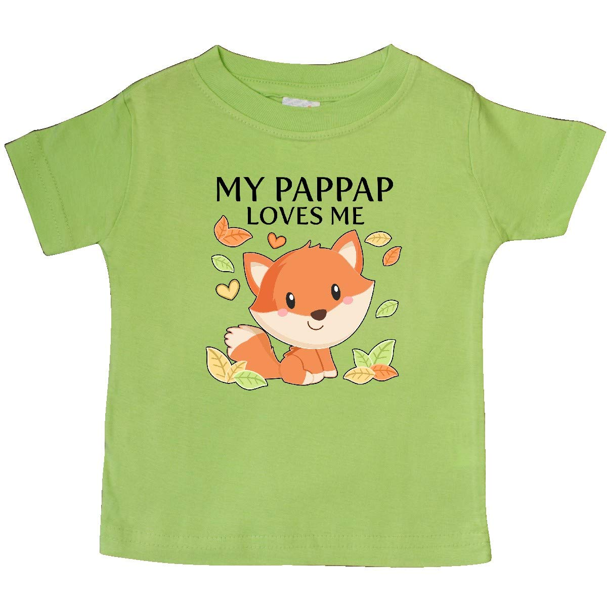 inktastic My Pappap Loves Me Little Fox Baby T-Shirt