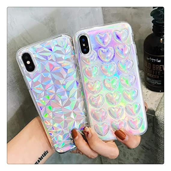 Amazon Com Mixneer Laser Bright Soft Tpu Phone Case For