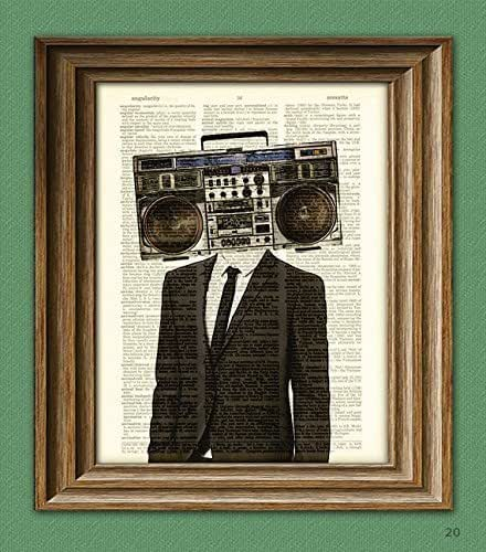 Amazon.com: The BOOMBOX HEAD Radio Man in a suit