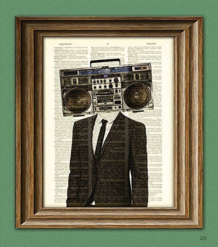 The BOOMBOX HEAD Radio Man in a ...