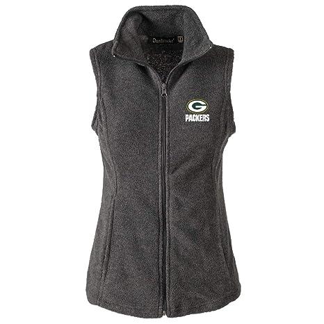 5b6fc70d NFL Green Bay Packers Womens Houston Ladies Fleece Vest, Grey, Large