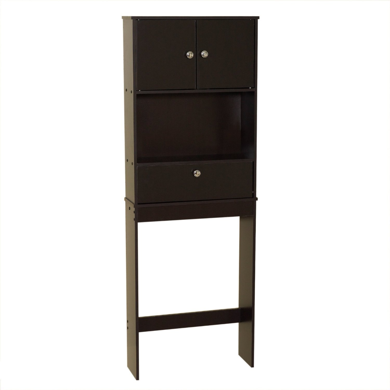 Over the Toilet Bathroom Space Saver Cabinet in Espresso Fast Furnishing