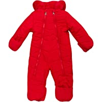 Steve Madden Baby Girls Snowsuit Pram – Poly Filled and Polar Fleece Lined with Sherpa Fur Hood