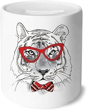 DIYthinker Gafas de Tigre Guapo Animales Caja de Dinero de Las Cajas de ahorros de cerámica Adultos Moneda de la Caja para niños: Amazon.es: Juguetes y juegos