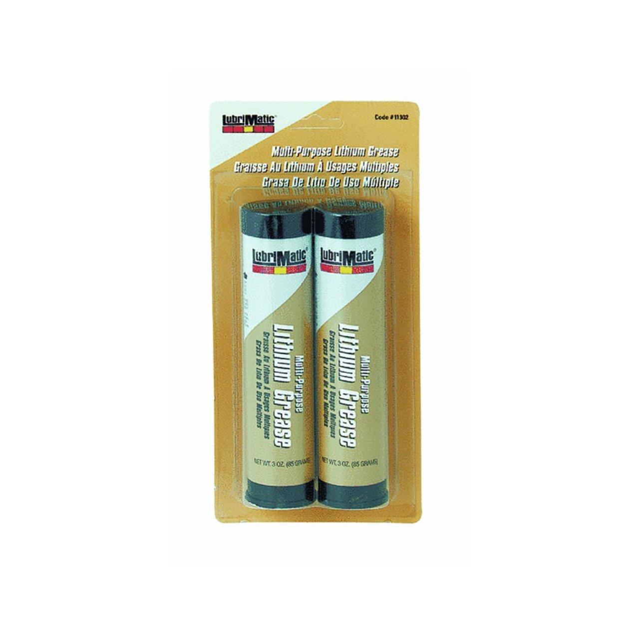 Plews-Edelmann 11302 Lubrimatic Multi-Purpose Lithium Grease, 3 oz Cartridge, Black (Pack of 2)