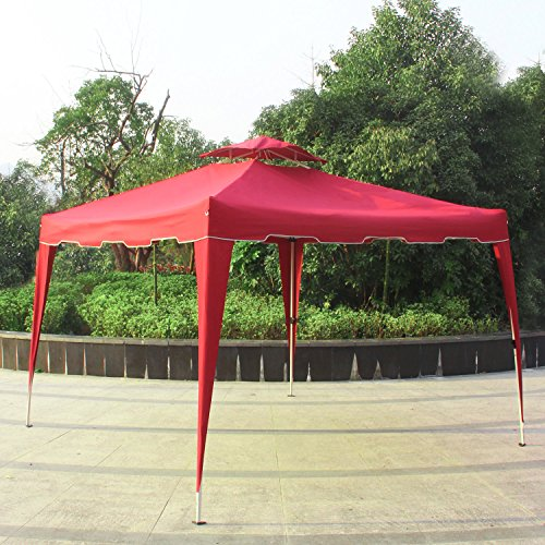 Cloud Mountain 10u0027 x 10u0027 Garden Pop Up Canopy Gazebo Patio Outdoor Double Roof Easy Set Up Canopy Tent Resist Light Rain with Carry Bag 5 Colors to Choose ... & Canopy Material: Amazon.com