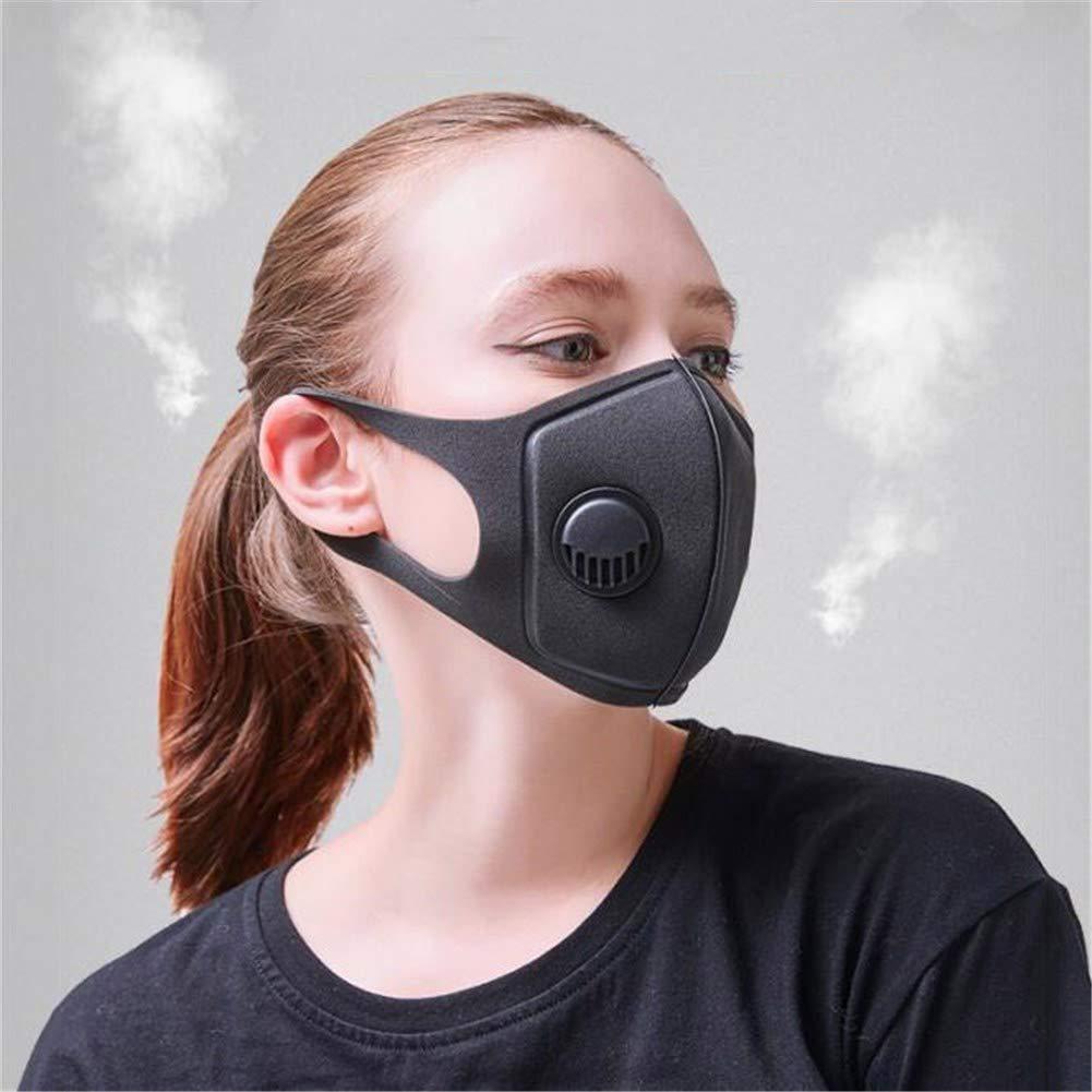 Máscara Antipolvo, Máscara máscara de algodón Lavable máscara de Boca máscara de Polvo máscara Plegable con válvula, Cubierta de mascarilla puri