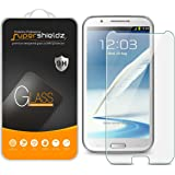 [2-Pack] Samsung Galaxy Note 2 / N7100 Tempered Glass Screen Protector, Supershieldz Anti-Scratch, Anti-Fingerprint, Bubble Free, Lifetime Replacement Warranty