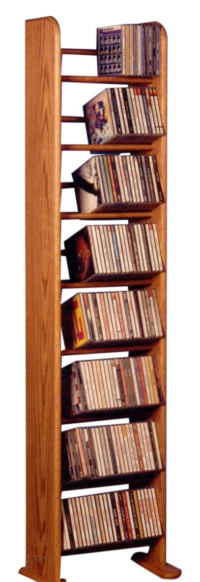 The Wood Shed 804 D Solid Oak CD Rack, Dark