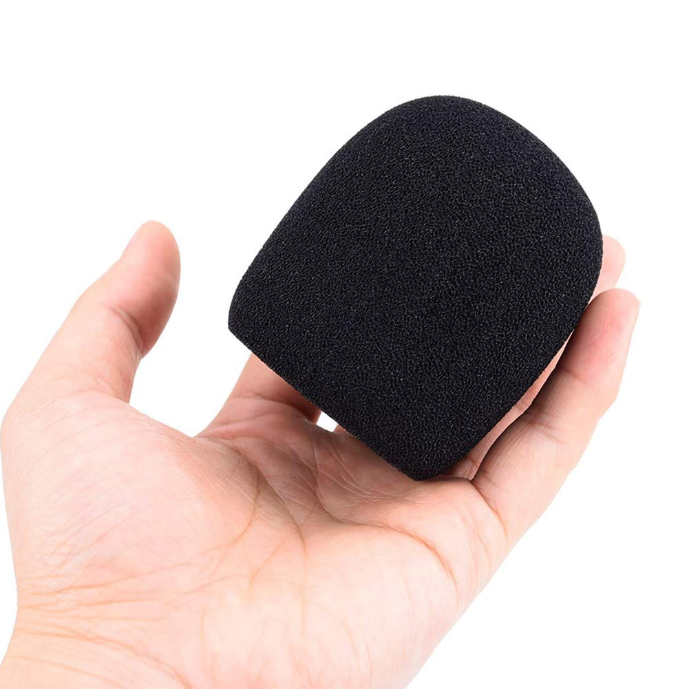 RENNICOCO Paquete de 5 Cubierta de micr/ófono de Espuma Micr/ófono de Mano Parabrisas