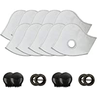 AirShielz Set of 10 Activated Carbon N99 PM2.5 Filters and 4 Exhaust Valves Replacement Dust Mask