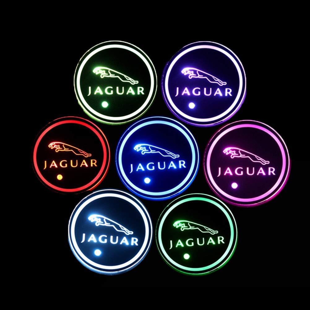 T-oyota PRXD 2pcs LED Auto Cup Halter Matte Pad Wasserdicht Flasche Getr/änke Untersetzer f/ür Universal Auto zur Autodekoration Stimmungslicht Innenraumbeleuchtung wasserdicht