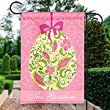 Floral Easter Egg Ornament Custom Personalized Double-Sided Garden/House Flag Review
