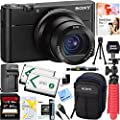"Sony RX100 V 20.1 MP Cyber-shot Digital Camera w/ 3"" OLED DSC-RX100M5 + 64GB SDXC Memory Dual Battery Kit + Accessory Bundle from Sony"